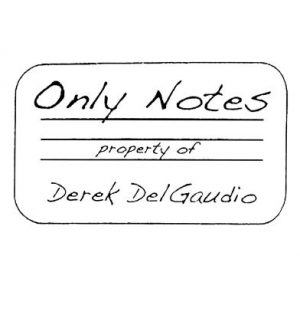 Derek DelGaudio – Only Notes (limited to 100 copies)