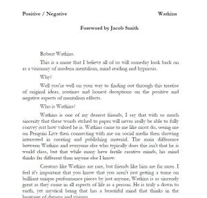 Positive/Negative by Robert Watkins (Limited RELEASE)(official pdf-version)