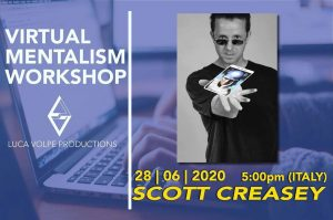Scott Creasey – Virtual Mentalism Workshop – Luca Volpe Production