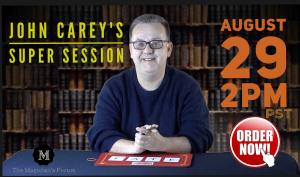 John Carey – Carey Super Sessions (August 29th, 2020)