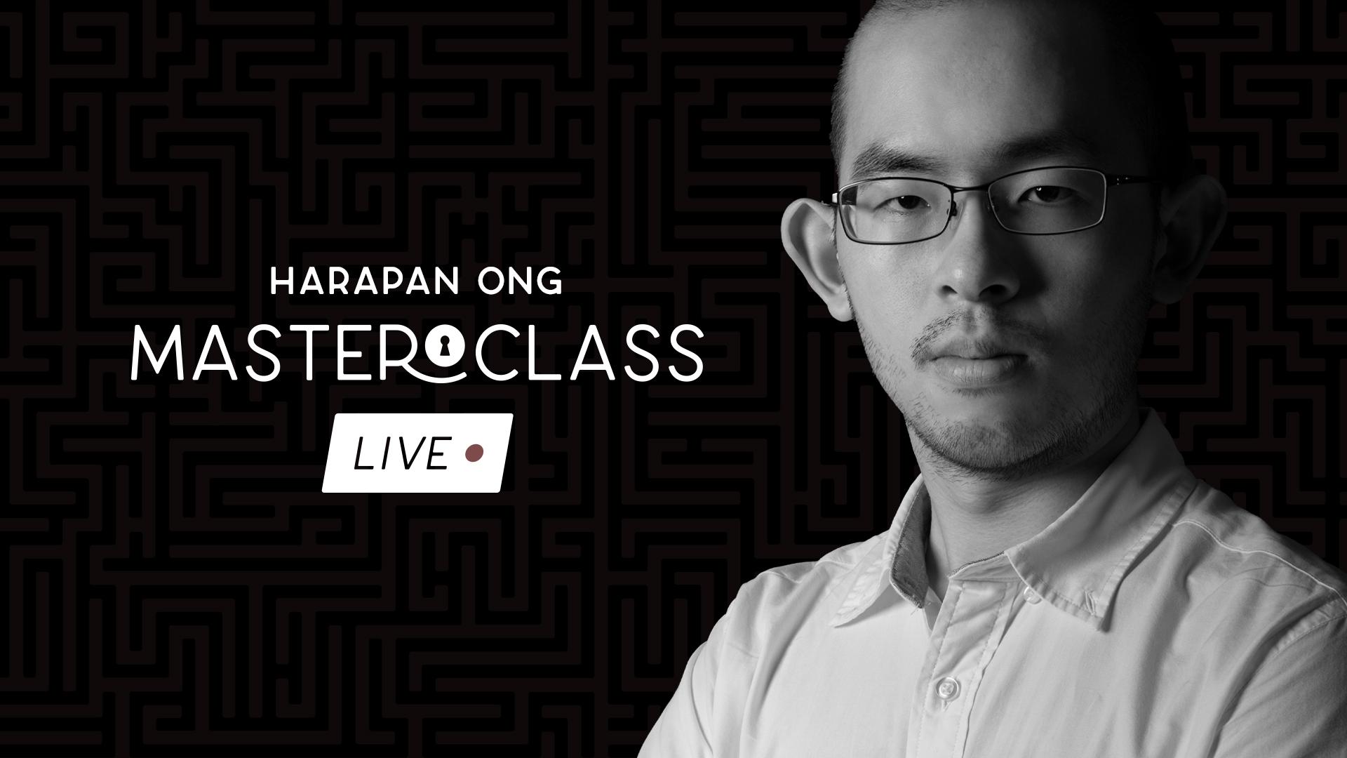 Harapan Ong – Masterclass Live (June 2021 – all 3 weeks with highest  quality) – vanishingincmagic.com – erdnasemagicstore