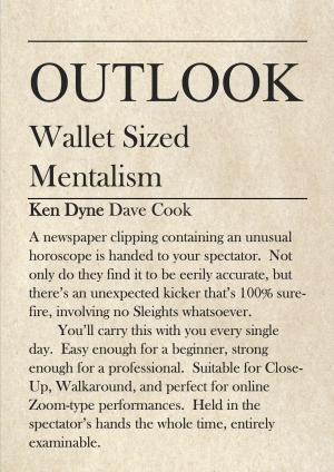 Ken Dyne & Dave Cook – Outlook – Wallet Sized Mentalism