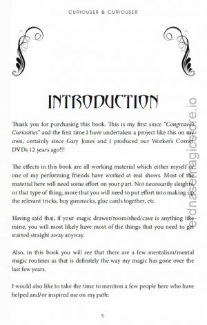 Chris Congreave – Curiouser & Curiouser (sample pages in description)