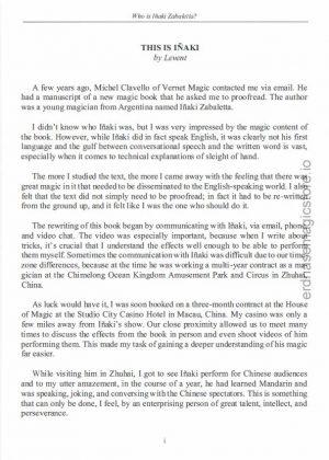 Inaki Zabaletta – Who is Inaki Zabaletta? (sample pages in description)