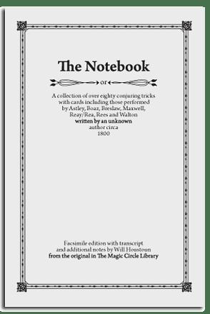 Will Houstoun – The Notebook