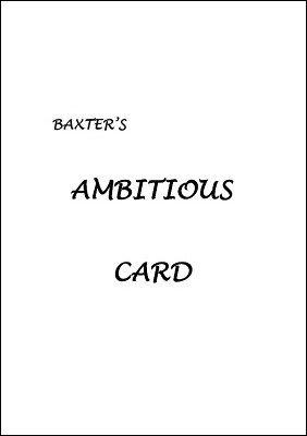Ian Baxter – Baxter's Ambitious Card